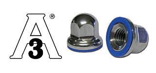 Hutmutter aus Edelstahl mit Silikondichtung- USDA & 3A zertifiziert